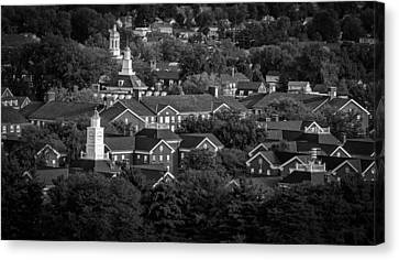 Ohio University South Green In Black And White Canvas Print by Robert Powell