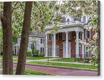 Ohio University In Spring Canvas Print by Robert Powell