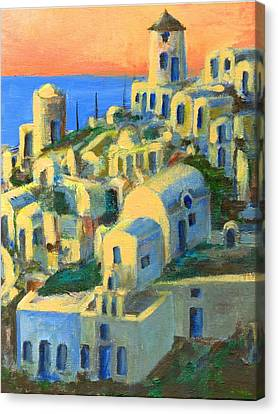 Oia. Santorini Canvas Print by Randy Sprout