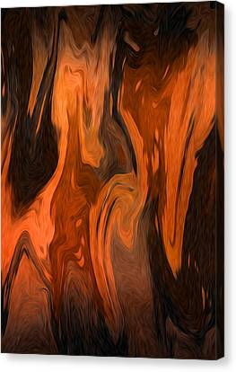 Oil Abstract Canvas Print by Svetlana Sewell