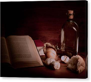 Oil And Garlic Bread Canvas Print by Levin Rodriguez