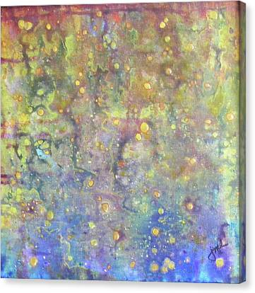 Oil And Water Canvas Print by Jean LeBaron