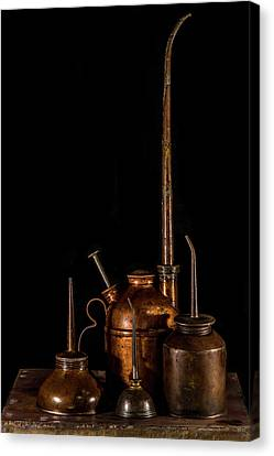 Canvas Print featuring the photograph Oil Cans by Paul Freidlund