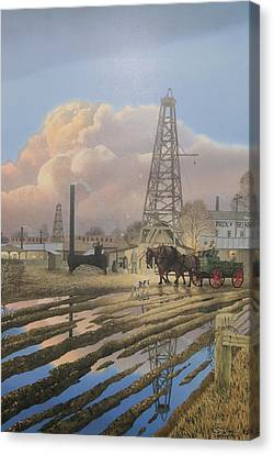 Oil Craze Of 1889 Canvas Print
