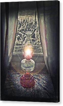 Oil Lamp - Still Life Canvas Print by Steve Ohlsen