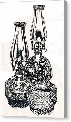 Oil Lamps Canvas Print by Barbara Keith