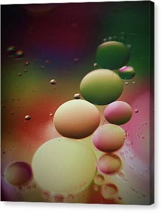 Oil Orbs And Colour Canvas Print by Kym Clarke