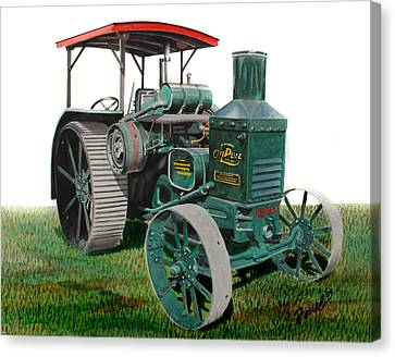 Oil Pull Tractor Canvas Print by Ferrel Cordle