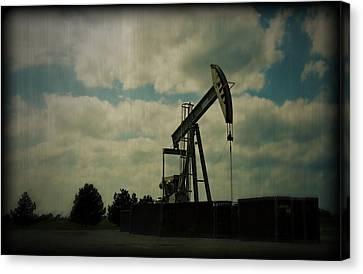 Oil Pumpjack Holga Canvas Print by Ricky Barnard