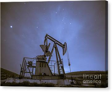 Oil Rig And Stars Canvas Print
