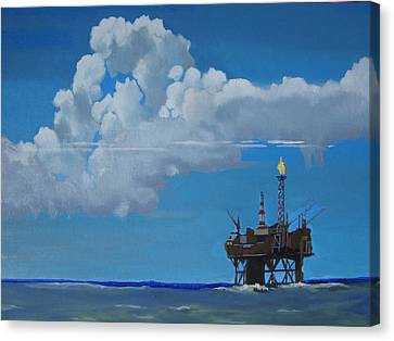 Oil Rig Near The Shetland Islands Canvas Print