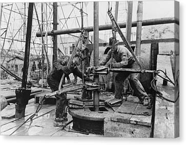 Fuel Canvas Print - Oil Rig Workers, Called Roughnecks by Everett