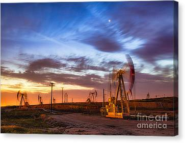 Oil Rigs 3 Canvas Print
