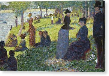 Oil Sketch For La Grande Jatte Canvas Print