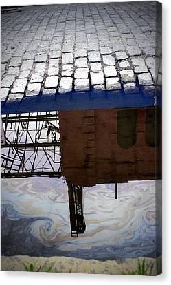 Oil Slick Factory Canvas Print