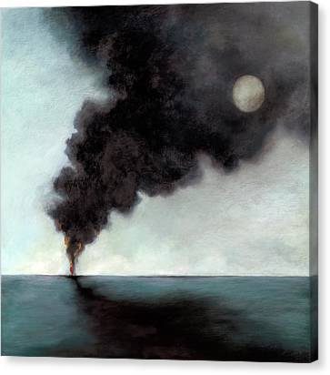 Oil Slick Canvas Print - Oil Spill 3 by Katherine DuBose Fuerst