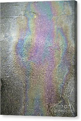 Oil Spill Rainbow Colors Canvas Print