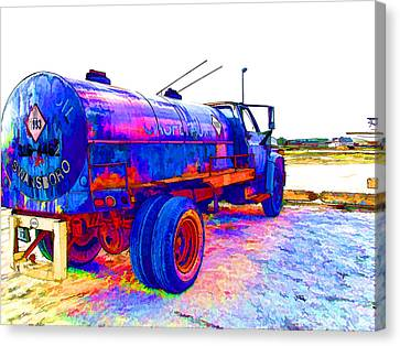 Oil Tanker Truck Canvas Print by Lanjee Chee