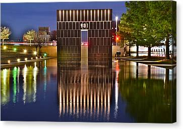 Minor League Canvas Print - Okc Bombing Memorial Pool by Frozen in Time Fine Art Photography