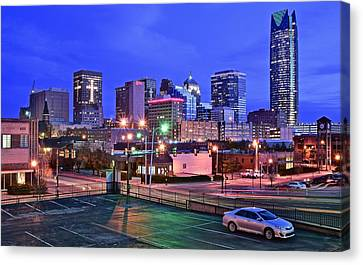 Okc Early Evening Canvas Print by Frozen in Time Fine Art Photography