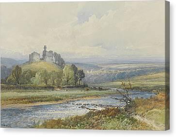 Okehampton Castle Canvas Print