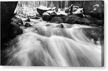 Oker, Harz In Black And White Canvas Print by Andreas Levi