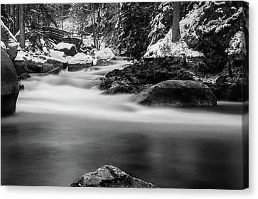 Oker, Harz - Monochrome Version Canvas Print by Andreas Levi