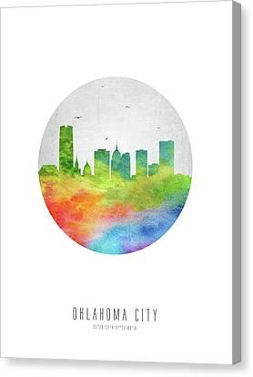 Oklahoma City Skyline Usokoc20 Canvas Print