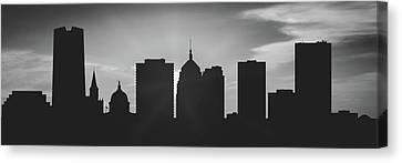 Oklahoma City Sunset Usokoc-pa02 Canvas Print