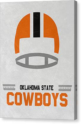 March Canvas Print - Oklahoma State Cowboys Vintage Football Art by Joe Hamilton