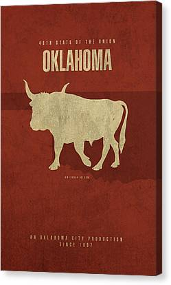 Oklahoma State Facts Minimalist Movie Poster Art Canvas Print by Design Turnpike
