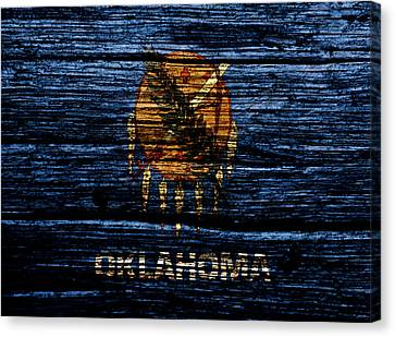 Reds Of Autumn Canvas Print - Oklahoma State Flag 1w by Brian Reaves