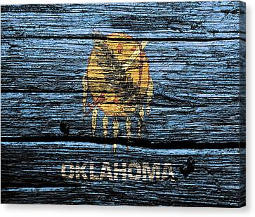 Reds Of Autumn Canvas Print - Oklahoma State Flag 3w by Brian Reaves