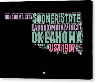 Oklahoma Word Cloud 1 Canvas Print by Naxart Studio