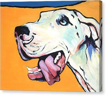 Ol' Blue Eye Canvas Print by Pat Saunders-White
