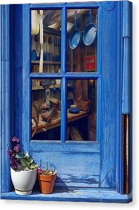 Ol' Country Store Window Canvas Print by Chrystyne Novack