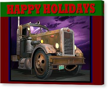 Ol' Pete Happy Holidays Canvas Print by Stuart Swartz