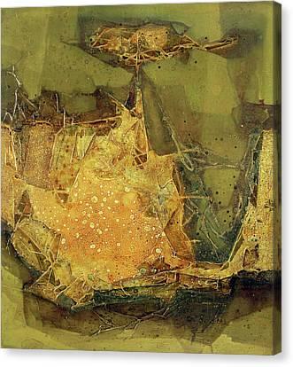 Ol1964ny005 New Dimention 36 X 39.6 Canvas Print by Alfredo Da Silva