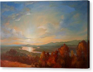 Olana Rejoices Canvas Print by Kevin Palfreyman