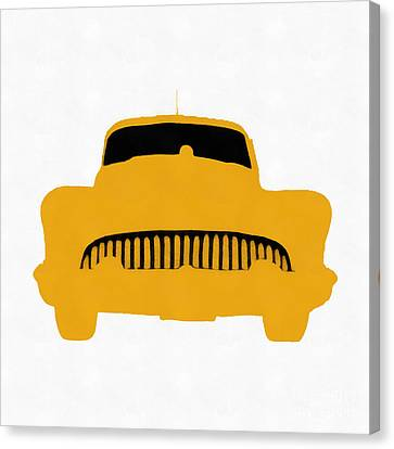 Old 53 Buick Orange Pop Art Canvas Print by Edward Fielding