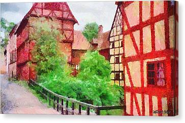 Old Aarhus Canvas Print by Jeff Kolker