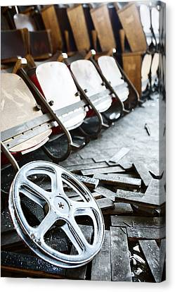 Old Abandoned Cinema - Neglected Movies Canvas Print by Dirk Ercken