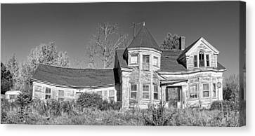 Old Abandoned House Black And White Photo Canvas Print by Keith Webber Jr