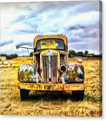 Old Abandoned Truck Canvas Print by Edward Fielding