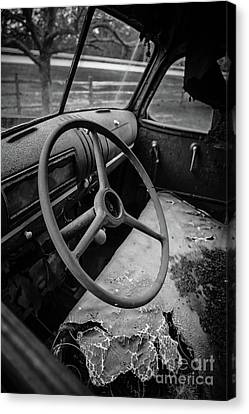 Old Abandoned Truck Interior Canvas Print by Edward Fielding