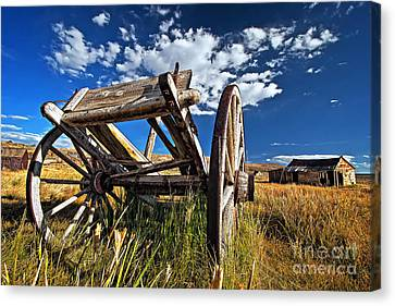 Old Abandoned Wagon, Bodie Ghost Town, California Canvas Print by Sam Antonio Photography