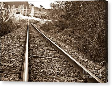 Canvas Print featuring the photograph Old Abundant Railway by Yurix Sardinelly