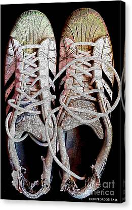 Canvas Print featuring the photograph Old Adidas Supestar II by Don Pedro De Gracia