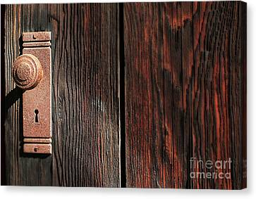 Old Amboy Grange Door  Canvas Print