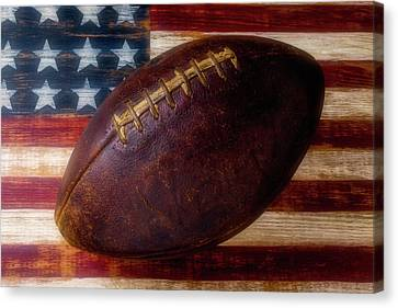Old American Football Canvas Print by Garry Gay